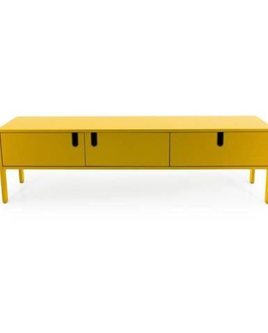 Žltá nízka komoda Tenzo Uno, šírka 171 cm