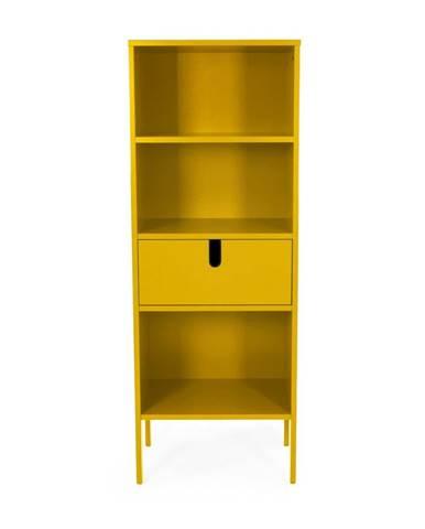 Žltá polica Tenzo Uno, výška 152 cm