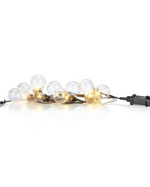 Markslöjd Čierna svetelná LED reťaz Markslöjd Fest Shine, 10svetielok, dĺžka 7,5 m