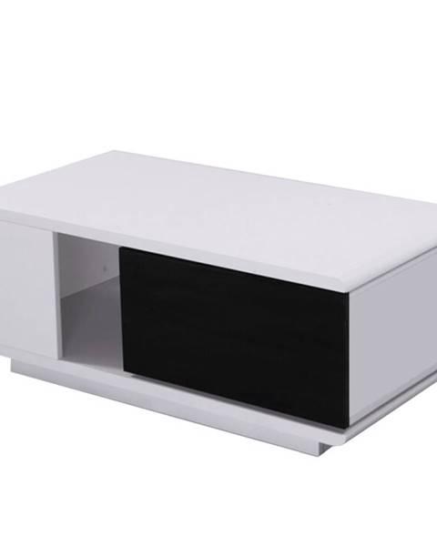 Tempo Kondela Konferenčný stolík biela/čierna HG DEMBA NEW