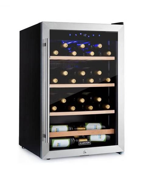 Klarstein Klarstein Vinamour 48 Uno, vinotéka, 128 l, 48 fliaš, 3 police, 4 – 18 °C, ušľachtilá oceľ