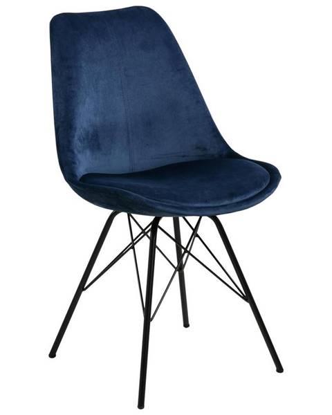 Möbelix Jedálenská Stolička Eris Tmavá Modrá
