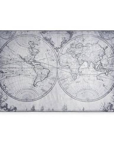 Hladko Tkaný Koberec World Map, 120/180cm