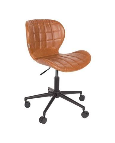 Hnedá kancelárska stolička Zuiver Office Chair OMG