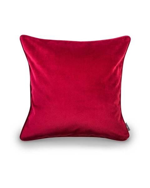 WeLoveBeds Červená obliečka na vankúš WeLoveBeds Elegant Burgundy, 50 × 50 cm
