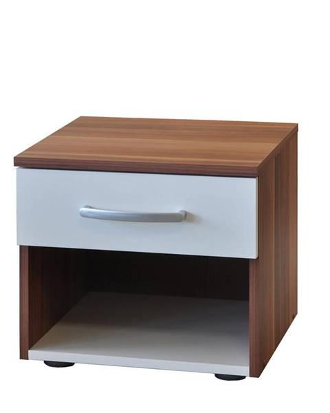 IDEA Nábytok Nočný stolík 60140 orech/biela