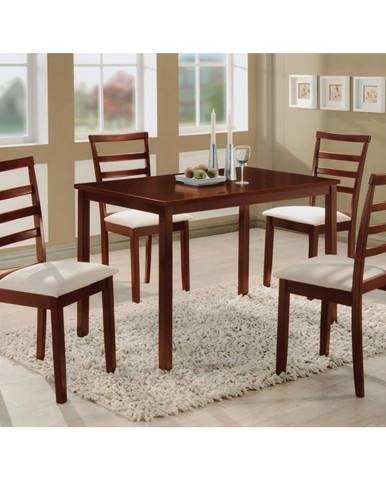 Stôl + 4 stoličky LIVORNO lak čerešňa
