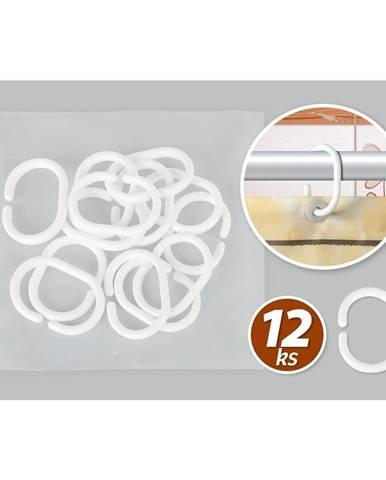 Bellatex Krúžky k sprchovým závesom, sada 12 ks