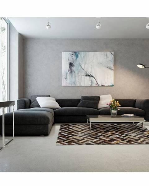 Kondela Tempo Kondela Luxusný kožený koberec