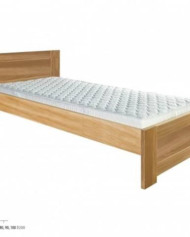 Drewmax Jednolôžková posteľ - masív LK261 | 90 cm dub