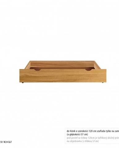 Drewmax Úložný box pod posteľ - masív LK271   dub