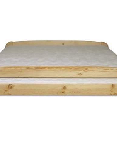 Manželská posteľ - masív LK108   140cm borovica