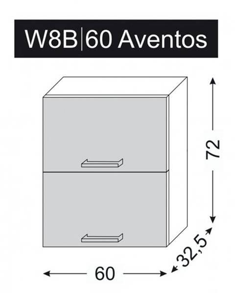 ArtExt ArtExt Vrchná kuchynská skrinka Napoli W8B/60 AVENTOS POVRCHOVÁ ÚPRAVA DVIEROK
