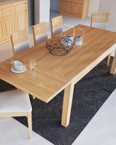 Drewmax Jedálenský stôl - masív ST302 / S45 - hrúbka 4cm / dub