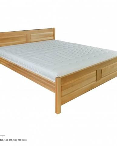 Drewmax Manželská posteľ - masív LK109 | 160 cm buk