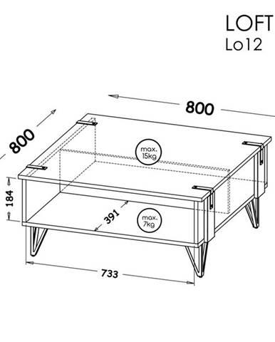 Dolmar Konferenčný stolík Lofter LO12