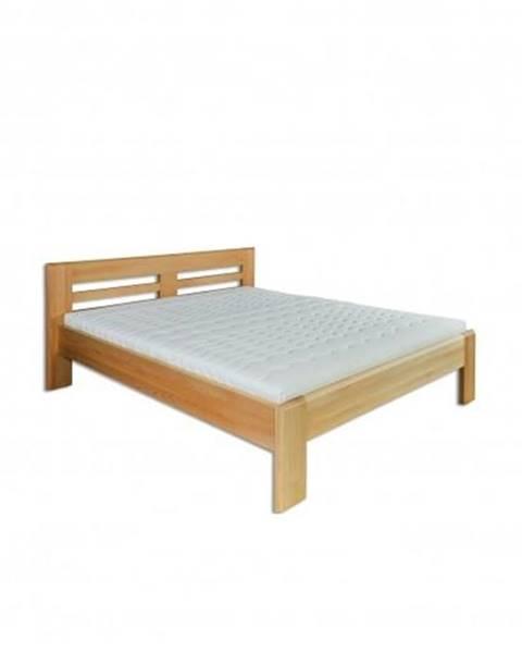 Drewmax Manželská posteľ - masív LK111 | 180cm buk