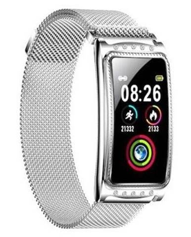 Inteligentné hodinky Immax Crystal Fit strieborné