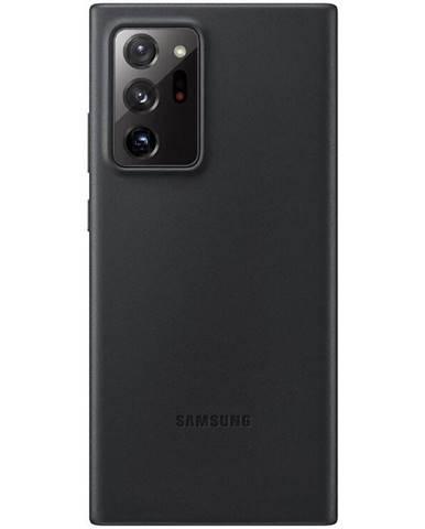 Kryt na mobil Samsung Leather Cover na Galaxy Note20 Ultra čierny