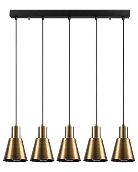 Opviq lights Závesné svietidlo pre 5 žiaroviek v zlatej farbe Opviq lights Kem Tube