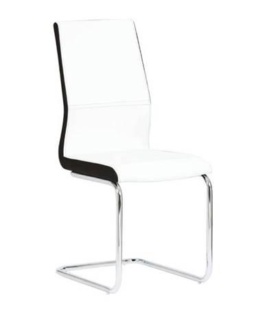 Jedálenská stolička ekokoža biela čierna/chróm NEANA