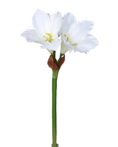 Umelá Amarylis biela, 52 cm