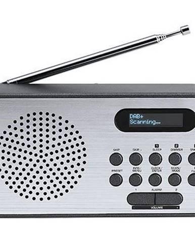 Rádioprijímač s DAB+ Thomson Rt225dab sivý/hliník