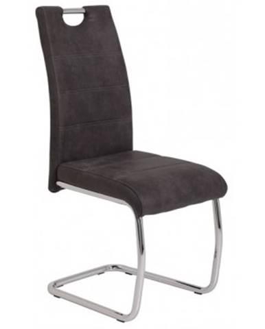 Jedálenská stolička Flora 2, antracitová vintage látka%