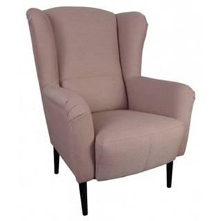 Kreslo ušiak Canto, ružová tkanina%