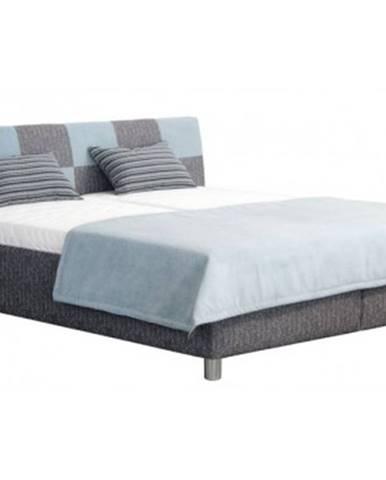 Posteľ Nice 180x200 cm, modro-šedá látka%
