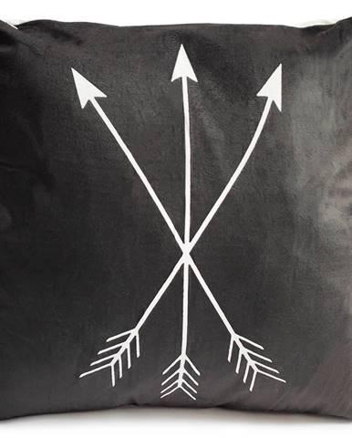 Jahu Vankúšik Black Šípy, 40 x 40 cm