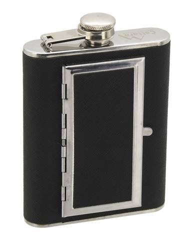 Cattara Fľaša ploskačka s puzdrom na cigary. 175 ml