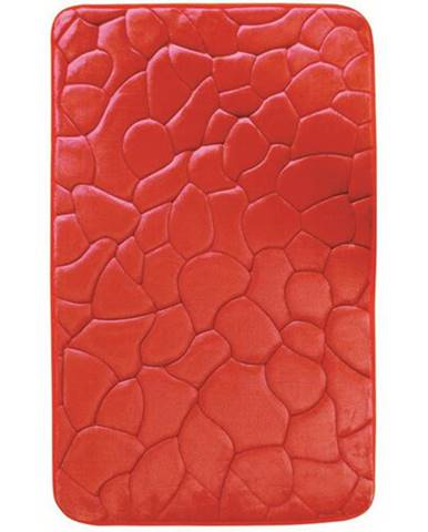 VOPI Kúpeľňová predložka s pamäťovou penou Kamene červená, 40 x 50 cm