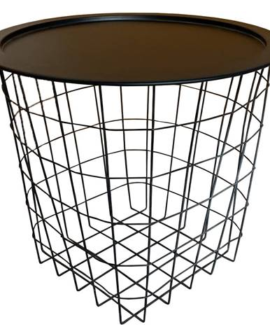 Príručný stolík čierna MOKAD