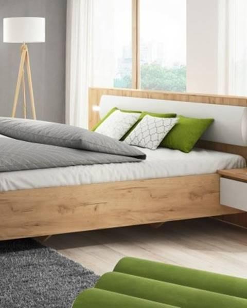 OKAY nábytok Rám postele Xelo 160x200, 2x nočný stolík, bez roštu, mat. a úp