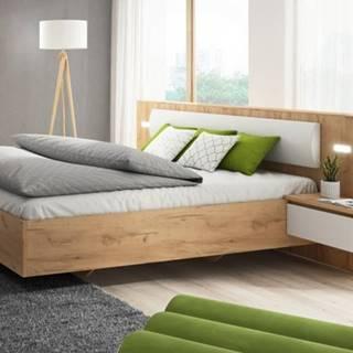 Rám postele Xelo 160x200, 2x nočný stolík, bez roštu, mat. a úp