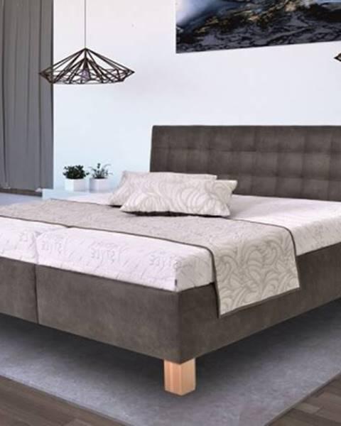 OKAY nábytok Čalúnená posteľ Victoria 160x200 vr. matraca, pol. roštu a ÚP