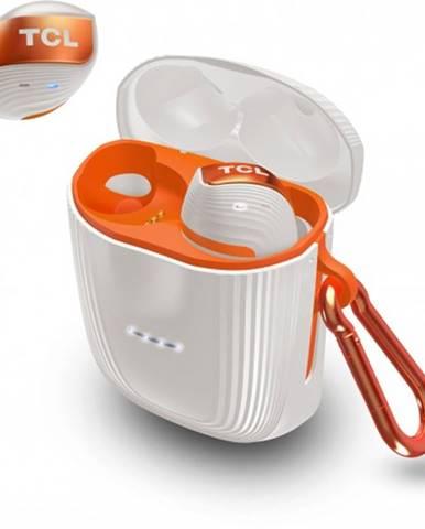 True Wireless slúchadlá TCL ACTV500TWS, bielo-oranžové
