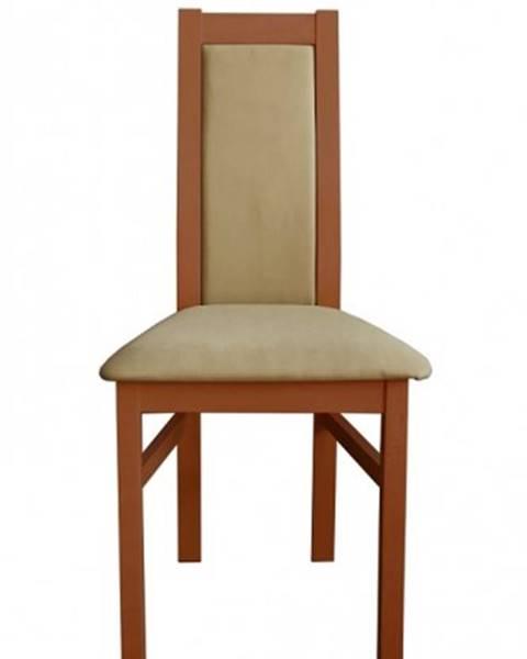 OKAY nábytok Jedálenská stolička Agáta stredný orech, krémová