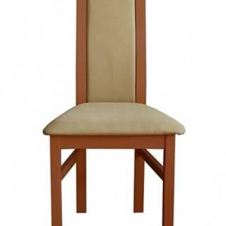 Jedálenská stolička Agáta stredný orech, krémová