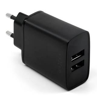 Nabíjačka do siete Fixed 2xUSB, 15W Smart Rapid Charge čierna