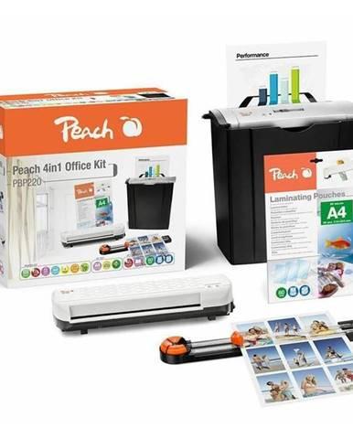 Skartovač Peach 4v1 Office Kit PBP220, set skartovač, laminátor,