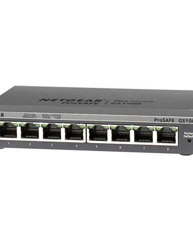 Switch Netgear GS108Ev3 sivý