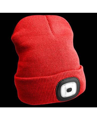 Sixtol Čiapka s čelovkou 45 lm, USB, uni, červená