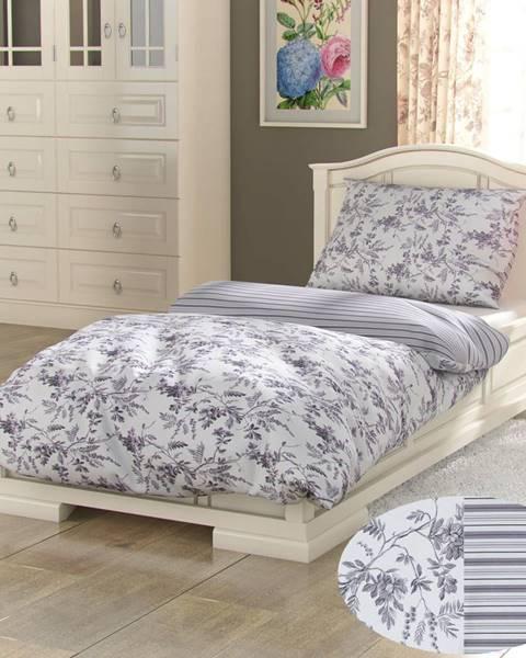 Kvalitex Kvalitex Bavlnené obliečky Provence Montera sivá, 140 x 200 cm, 70 x 90 cm