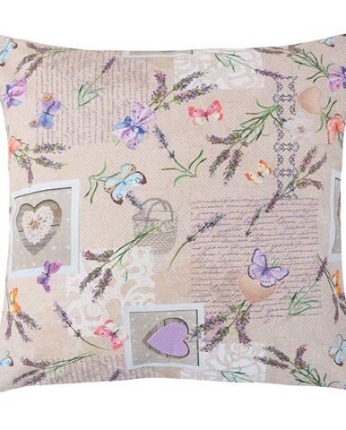 Bellatex Vankúšik Ema Patchwork levanduľa, 45 x 45 cm