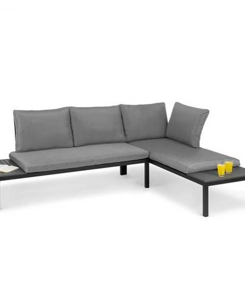 Blumfeldt Blumfeldt Cartagena, ležadlo, 2 dvojmiestna sedačka so stolíkom, oceľ, polyester