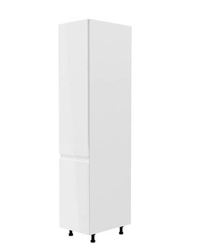 Potravinová skrinka biela/biela extra vysoký lesk ľavá AURORA D40SP