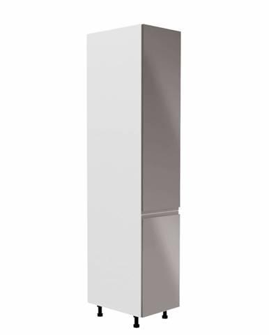 Potravinová skrinka biela/sivá extra vysoký lesk pravá AURORA D40SP