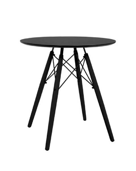 Tempo Kondela Okrúhly jedálenský stôl čierna MONTY poškodený tovar
